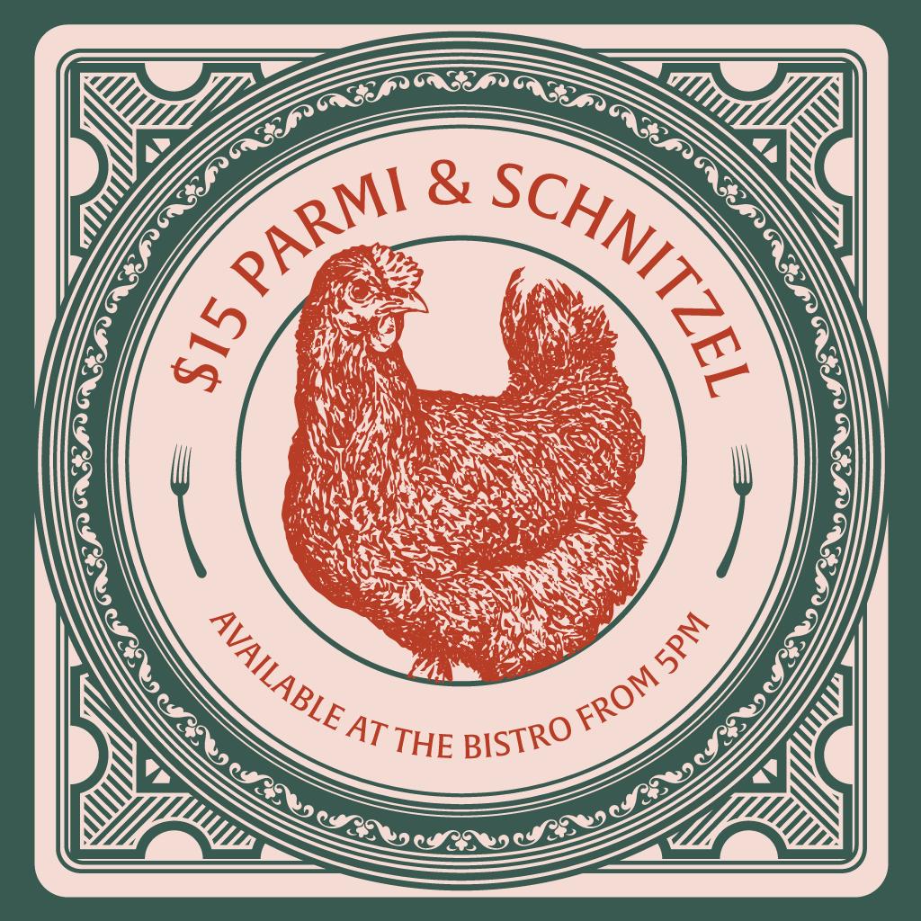 Rag Parmi Schnitzel Webtile